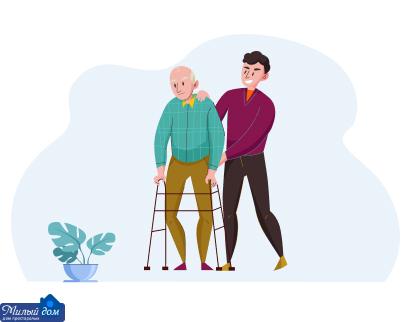 Уход в домах престарелых