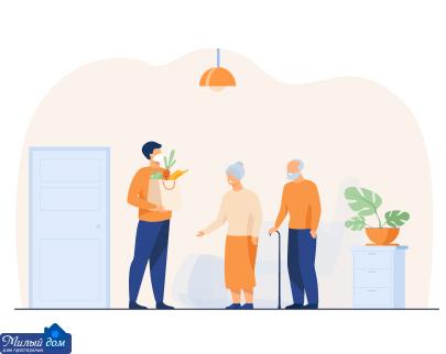 Забота о стариках в доме престарелых