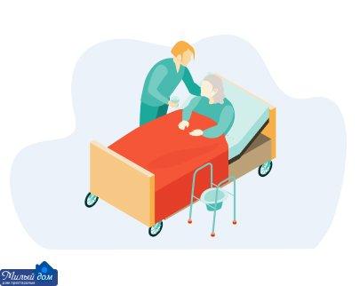 Догляд за лежачими з пролежнями