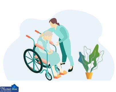 Догляд за лежачим хворим в будинку престарілих